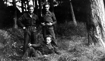 Belgian Soldiers relaxing in the Black Wood at Gilford Castle