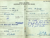 Certificate of Service & Release of Leading Aircraftman W. B. Eccles, Gilford, 243 Squadron RAF. December 1945.-cert