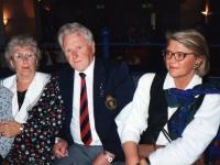 Beaulah Eccles enjoys the company of Louis Renard and his daughter Berthe from Belgium.