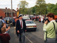 Colour Party from Belgian 4th Infantry Brigade late 1990\'s at Royal British Legion, Banbridge.