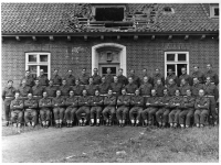 297 Coy Royal Engineers, formerly based at Gilford Castle, Co Down photographed in Germany. (1944)