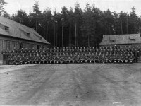 Royal Engineers previously based at Gilford Castle, Co Down photographed in Germany. (1945).