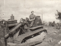 297 Coy Royal Engineer Frank Melville (Dundee) road building in Germany. (1944)