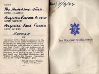 Inside Cover of John Anderson\'s Prayer Book