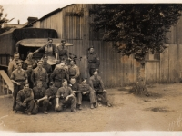 Men from 297 Coy June 1944 photographed Barton-on-Sea, Hampshire prior to D-Day invasion.