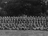 297 Coy Royal Engineers formal photograph taken at Gilford Castle grounds, Co Down. (1942).