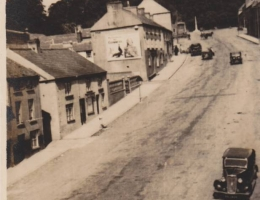 "Tandragee, N.I."" Inscribed on back of photo: ""Main street."