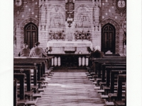 St John\'s R.C Church Gilford Co Down. N.B. Two British soldiers attending during war years - app 1942, when thousands of British servicemen were billeted in and the town.