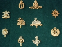 Medals - the property of Johnnie Williamson Gilford. Johnnie was given the badges by some of the troops who were based in Gilford, Co Down during WWII.