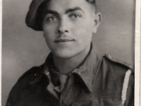 Lucien - a young Belgian soldier who was based in Gilford Co Down during 1945 with troops of the Belgian 4th Infantry Brigade, who were billetted on Stramore Road. The Belgian troops were formerly Resistance fighters and after the war ended, they later formed the core of the New Belgian Army.
