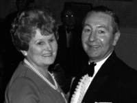 Raymond Griffiths - and English soldier who was billetted with the Royal Engineers in Gilford during the war. Raymond is pictured many years later with his wife - former Gilford girl Maria Adamson. Raymond was a bandsman with 297 Coy band whilst in Gilford.