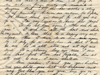 Continuation of Padres letter to Mrs Joseph Conerney, concerned that he was unable to contact Joseph.