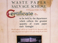 Dunbar McMaster, obviously were already encouraging the recycling of waste-paper during the war years. The fortnightly scheme encouraged a competitive element between the different departments in Gilford Mill complex, as to who collected most waste paper.
