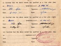 Harry Watson Pilot Certificate