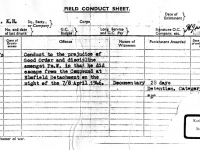 Field Conduct Sheet of former German prisoner of war KARL-HEINZ PRZYBYLSKI, who had been interned in Elmfield POW camp Gilford Co Down during the latter stages of the war. HERR PRZYBYLSKI returned to visit Gilford in recent years and left the document with Mr and Mrs Shaw who now the owners the Elmfield property formerly the site of the POW camp.