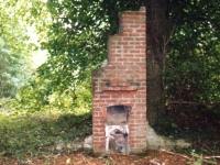 Remains of fireplace in Castle grounds at Wall road site previously used by army