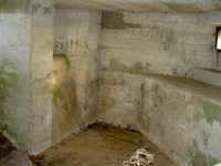 Photograph of the inside of the WWII Pillbox which stands in Greer\'s field at Madden, near Gilford.