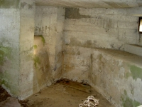 Internal view of one of the two WWII Pill boxes which still stands at Madden, near Gilford. This one is situated in Greer\'s field, another one is in a nearby field belonging to the Keyes family.