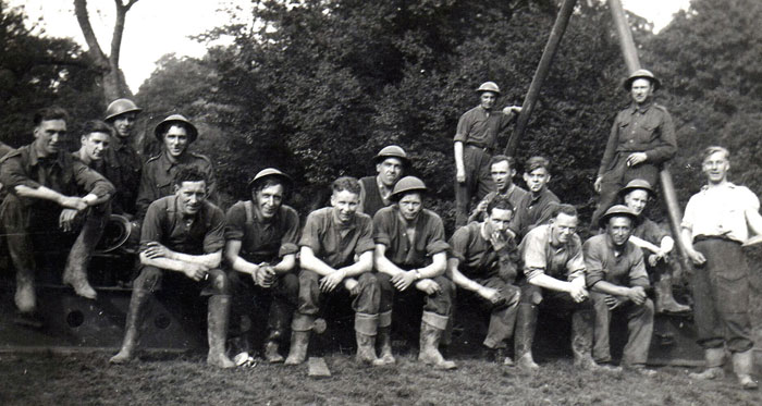 Some of 297 Company Royal Engineers - Gilford Castle