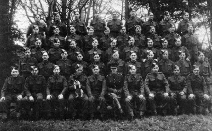 Some 583 Company Royal Engineers at Gilford Castle