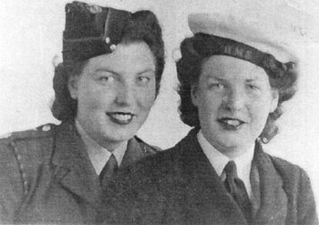 Elsie Kerr (left) and Sister