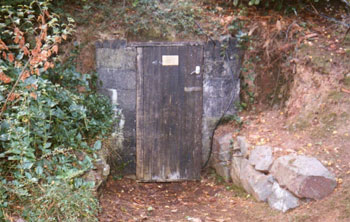 Entrance to the Air Raid Shelter at Dunbarton House