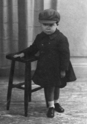 Geoffrey Wisher as a young child